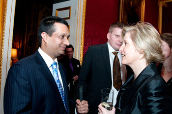 Waqas with Princess Sophie at a reception